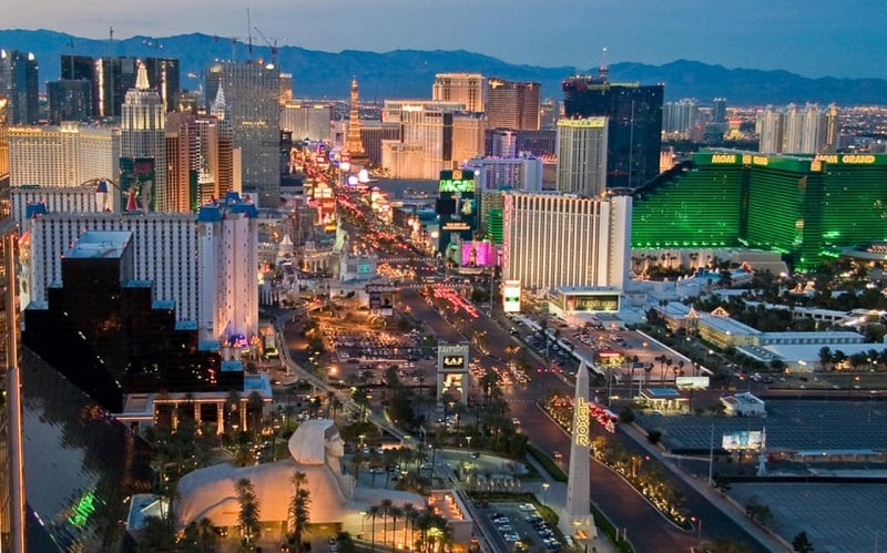 Avenida Las Vegas Strip em Las Vegas