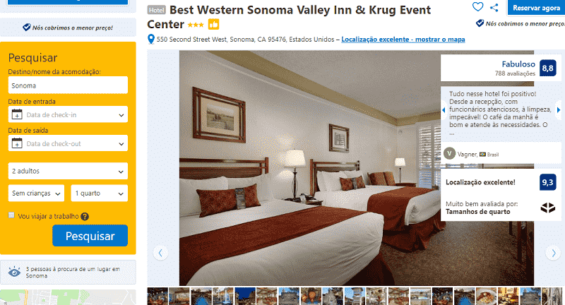 Estadia no Hotel Best Western Sonoma Valley Inn & Event Center