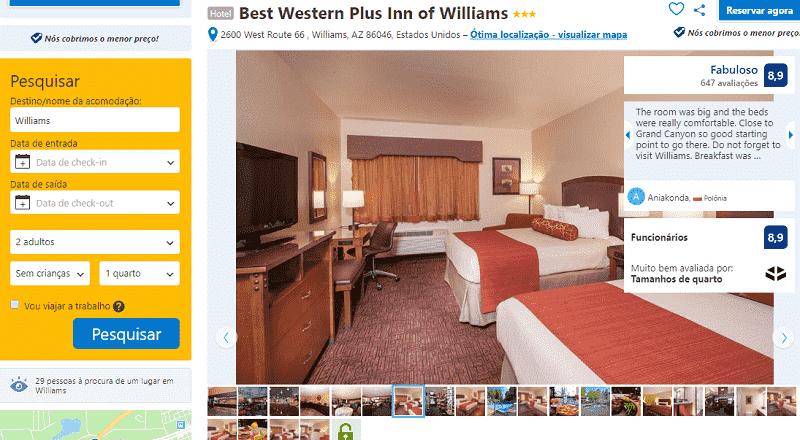 Estadia no Hotel Best Western Plus Inn em Williams