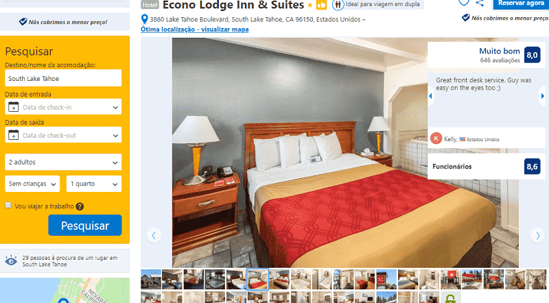 Estadia no Hotel Econo Lodge Inn & Suites em South Lake Tahoe