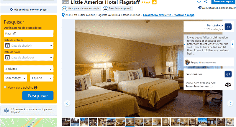 Estadia no Hotel Little America em Flagstaff