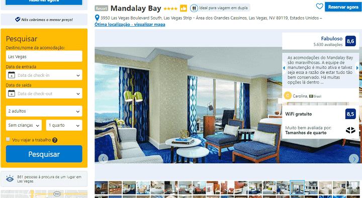 Estadia no Hotel Mandalay Bay Resort & Casino em Las Vegas