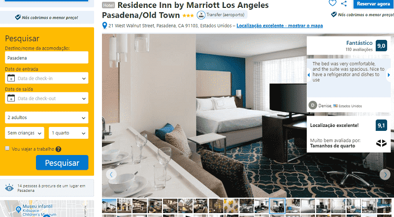 Estadia no Hotel Residence Inn by Marriott Los Angeles Pasadena