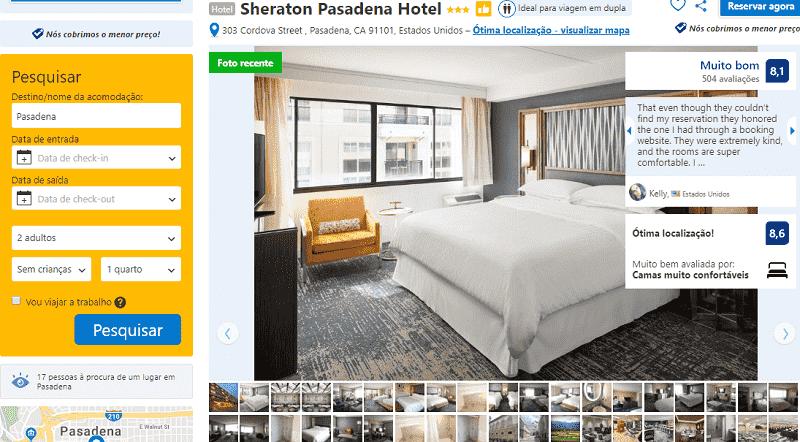 Estadia no Sheraton Pasadena Hotel