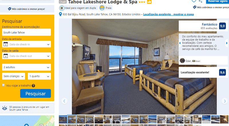 Estadia no Hotel Tahoe Lakeshore Lodge & Spa