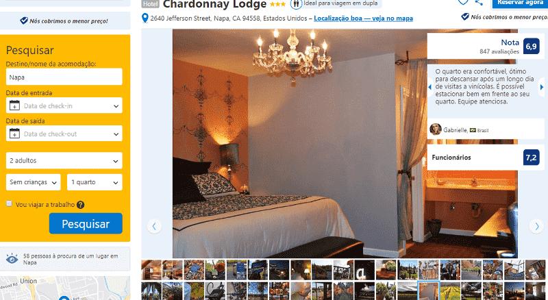 Estadia no Hotel Chardonnay Lodge em Napa Valley