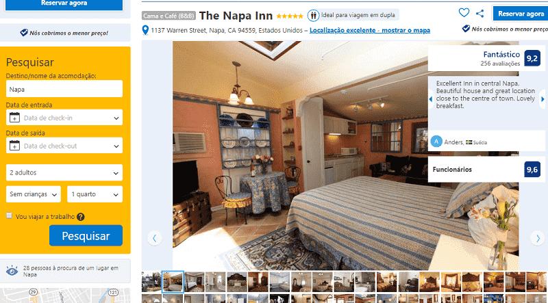 Estadia no Hotel The Napa Inn em Napa Valley