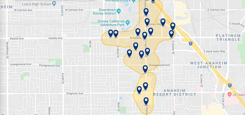 Mapa da melhor região para ficar em Newport Beach