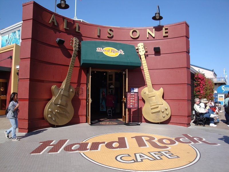 Visita ao Hard Rock Café San Francisco