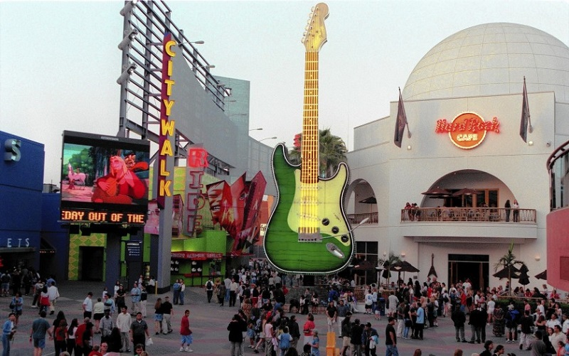 Estrutura do Hard Rock Café Universal CityWalk Los Angeles