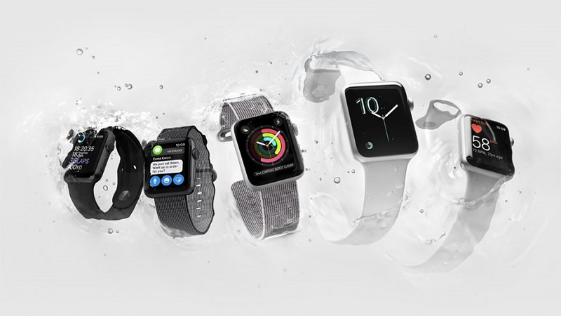 Diferentes modelos dos Apple Watch