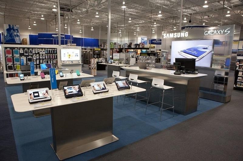 Eletrônicos na loja Best Buy em San Francisco